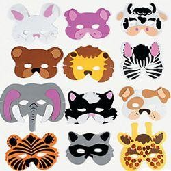 Child Size Foam Animal Masquerade Masks