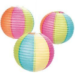 12in Paper Beach Ball Lanterns