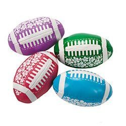4in Vinyl Foam-Filled Tropical Hibiscus Print Footballs