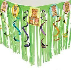 Plastic Tiki Table Skirt With Cutouts