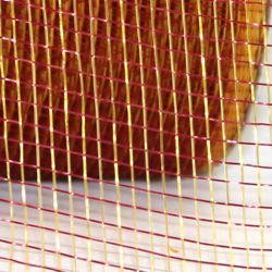 2.5in Wide x 75ft Long Two Tone Mesh Roll Burgundy/ Gold