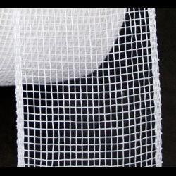Mesh Ribbon Roll Plain White
