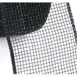 Mesh Ribbon Roll Plain Black