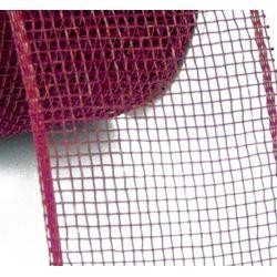 Mesh Ribbon Roll Plain Burgundy
