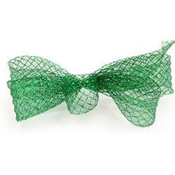 1.5in x 90ft Deco Flex Mesh Ribbon: Dark Green w/ Emerald Green Foil