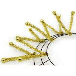 Tinsel Ball Work Wreath Form: Metallic Gold