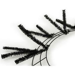 Tinsel Work Wreath Form: Metallic Black