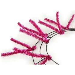 Tinsel Work Wreath Form: Metallic Fuchsia