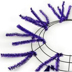 Tinsel Work Wreath Form: Metallic Purple