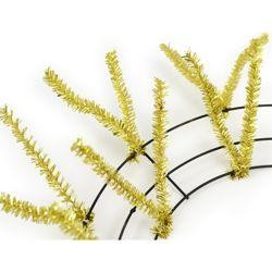 Tinsel Work Wreath Form: Metallic Gold