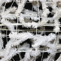 White Work Ball Wreath Form
