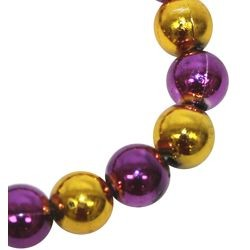 12mm Round Gold/ Purple Bracelet