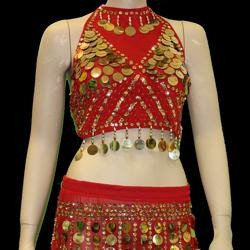 Red Belly Dancing Set