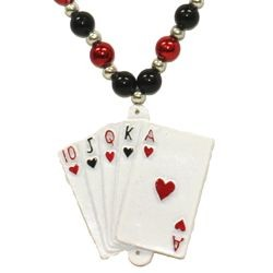 Royal Flush Casino Necklace