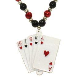 Royal Flush Casino Necklace