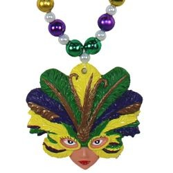 Feathered Mask Lady Necklace