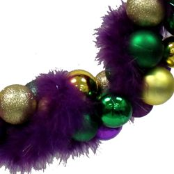 Purple, Green, and Gold Ball Mardi Gras Wreath