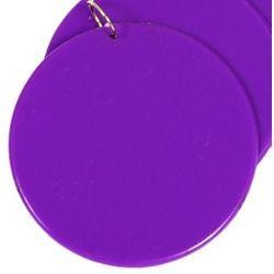 2.5in Blank Purple Hard Plastic Disc/Medallions w/ Metal Ring