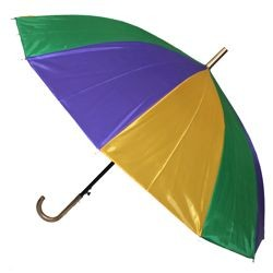 21in Long Nylon Mardi Gras Umbrella w/ Plain Edge