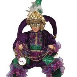 22in Mardi Gras Sitting Jester Doll