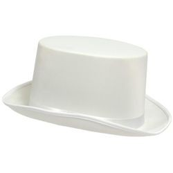 12in Long x 9 1/2in Wide White Satin Top Hat