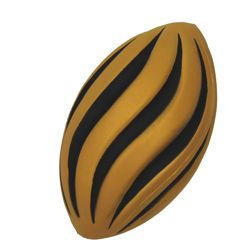 7in Long Black/ Gold Foam Spiral Footballs