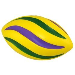 7in Long Purple/ Green/ Gold Foam Spiral Footballs