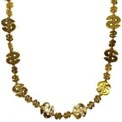 Metallic Gold Dollar Sign Beads