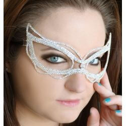 Clear Rhinestone Eye Masquerade Mask