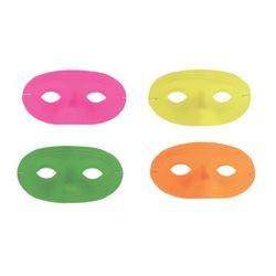 Neon Half Masquerade Masks