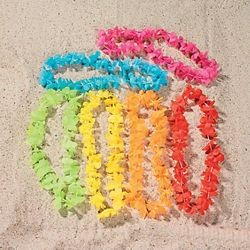 40in Polyester Bright Color Flower Leis