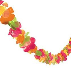 100ft Bright Plastic Lei Garland
