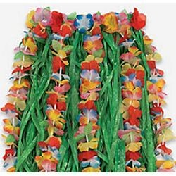 Child Plastic Flower Hula Skirt