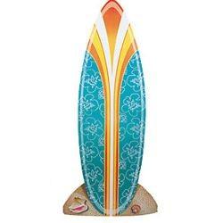 34in Wide x 6ft Tall Luau/ Hawaiian Cardboard Surfboard Stand-Up