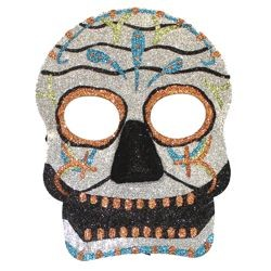 Day of the Dead and Halloween Glitter Masquerade Mask Assortment