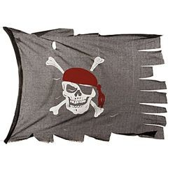 44in x 28in Cotton Creepy Cloth Pirate Flag
