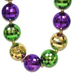6ft Long x 25mm Mardi Gras Disco Ball Garland