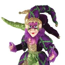 20in Tall x 9in Wide Mardi Gras Elf