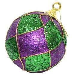 120mm Glittered Mardi Gras Balls