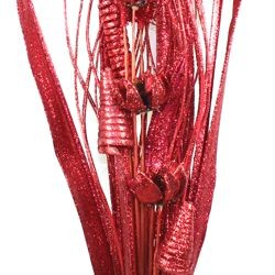 45in Tall Glittered Red Natural Bouquet