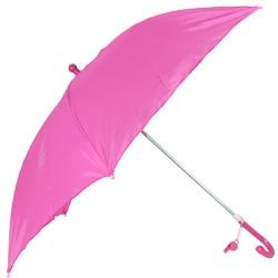 18in Long Nylon Hot Pink Umbrella w/ Plain Edge
