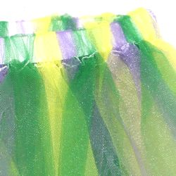 Purple/ Green/ Gold Color Tutu Skirt Adult Size