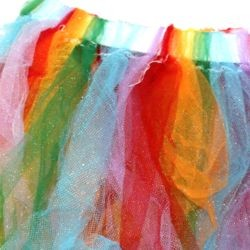Rainbow Colors Tutu Skirt Adult Size