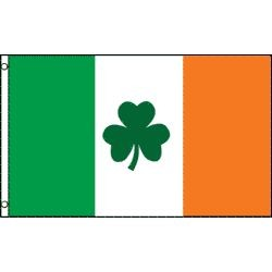 3ft x 5ft Polyester Ireland Clover Flag
