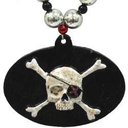 Skull and Cross Bone Medallion Bead