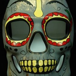 Day of the Dead Full Face Skull Masquerade Mask