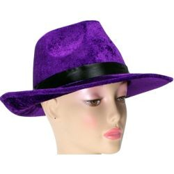 Velvet Purple Fedora