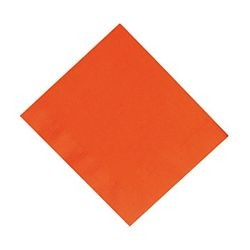 6.5in x 6.5in Orange Lunch Napkins