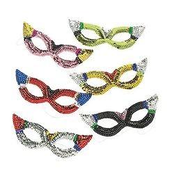 Sparkling Sequin Rainbow Masquerade Masks