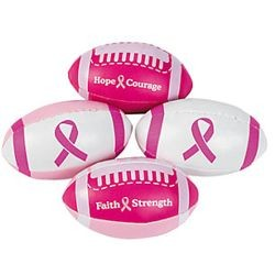 4in Foam Pink Ribbon Footballs